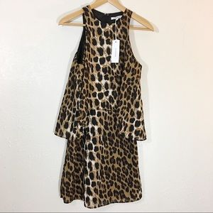 NWT ASOS Glamorous Leopard Print Tiered Dress